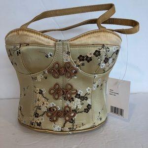 Hillary Hanson cute corset purse gold, embellished